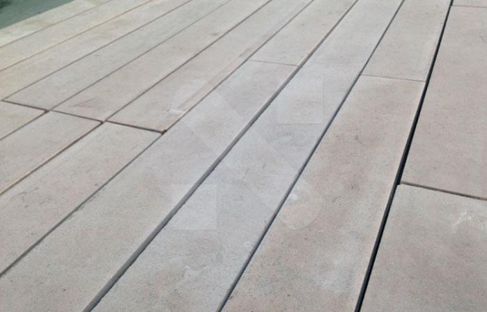 Grey limestone strips